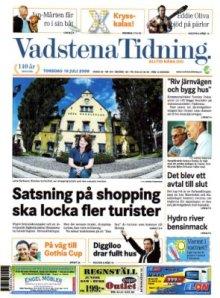 Motala Tidning den 10 juli 2008