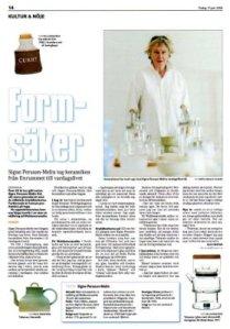 Motala Tidning den 17 juni 2008.