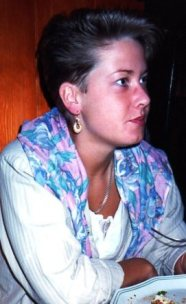 London 1989, utan glasögon. Frisyren gillar jag ännu.