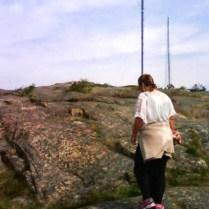 På väg till Stöbergets topp