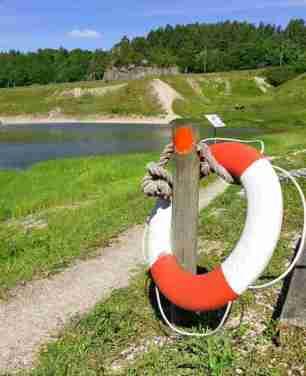 Dammen är en gammal schaktgrop.