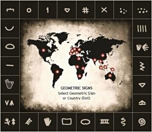 Karta över paleolitiska tecken
