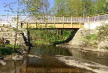 Nya bron vid Fossumsberg.