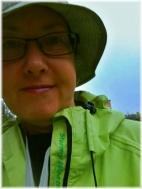 Regnhatt inköpt på golfbana.